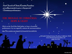 Christmas Concert 2020 Flyer