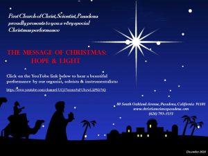 Christmas Concert 2020 Flyer